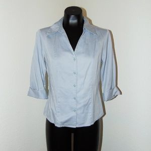 Gray Collared Button Down Blouse by Apostrophe